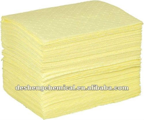 100% PP yellow chemical-absorbent pads