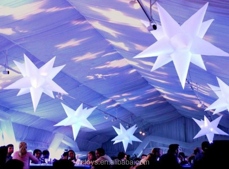 glamour event stage decoration inflatable star with the LED lights for party,event,stage