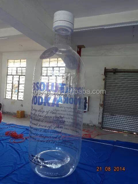 High quality giant Transparent PVC inflatable bottle for adverting