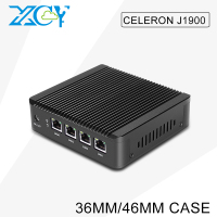 XCY cheap computer Celeron J1900 8g ram 30g hard disk Firewall mini fanless pc 4 rj45 Windows10