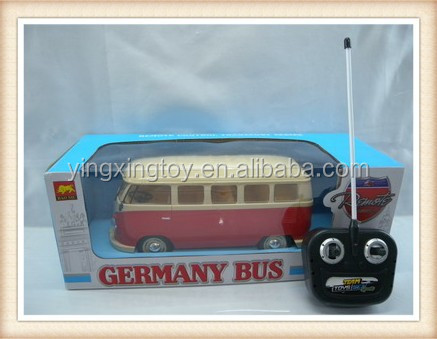4 function model lighting germany bus plastic remote control rc bus