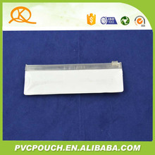 High quality pvc vinly plastic packing bag with slider zip