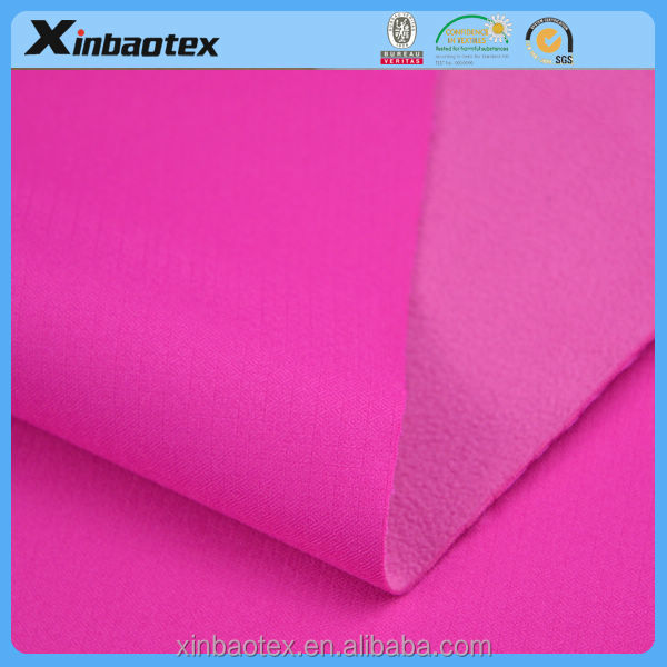 woven softshell fabric 100% polyester 150D jacquard woven stretch bonded with TPU and polar fleece