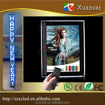 Vertical+Horizontal text P2.5-16x240 light box use Single Blue color Scrolling message advertising led display board