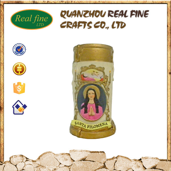 High quality resin religious candel holder for decoration