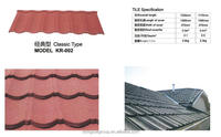 Decramastic Type Zink Warehouse Factory Nosen Light weight Construction Mosaic Interlocked Barrel Curved Roof Tile