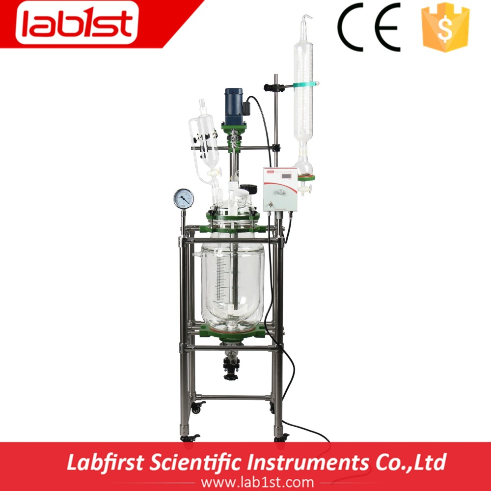 Hot sale Jacketed Chemical Glass Reactor 20L