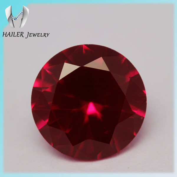 Good Prices Synthetic rough Brilliant Round Cut Ruby Corundum