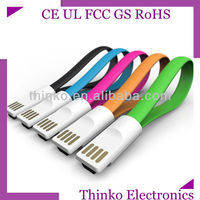 Magnet micro usb cable with magnetic plugs for all kinds of smart phones
