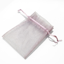 Zenper Custom high end quality purple organza pouches/ lavender packaging bags/ small drawstring jewelry bag