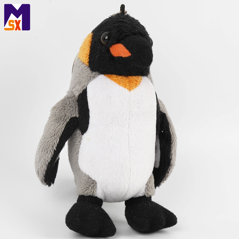 Custom plush animals keychain penguin plush keychain