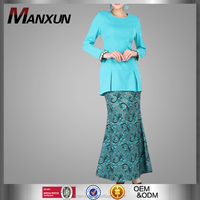Beautiful Buju Kurung Mermaid Like with Embroidered Model Baju Kebaya Muslim Wear