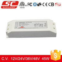 ETL dimmable led driver, 12V 45W triac dimmable constant voltage