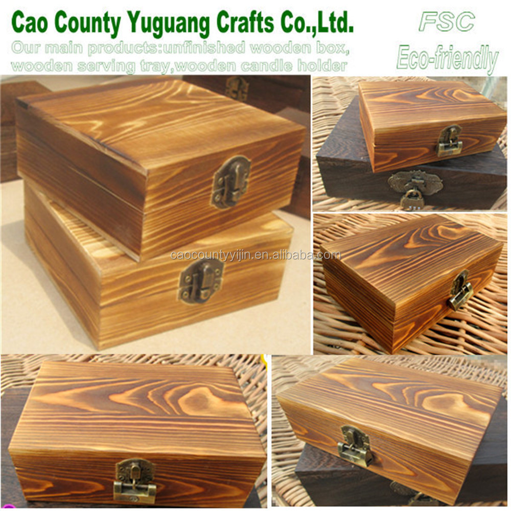 Antique/ vintage/chic/shabby /rustic pine wood box