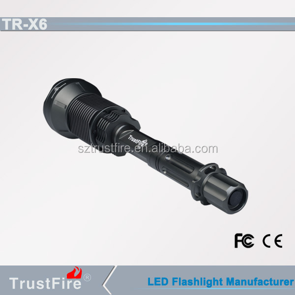 TrustFire X6 rechargeable fast track torch,aluminum led flashlight,high lumen tactical flashlight
