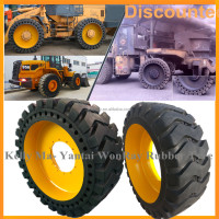 China solid otr tires 17.5x25 1800 25 17.5-25 for road construction equipment