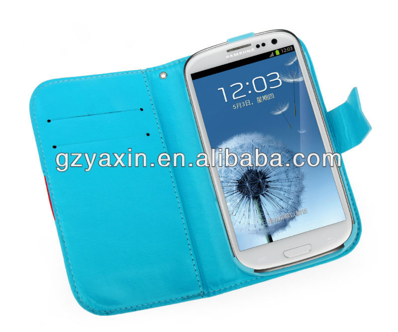 Credit Card Slot Wallet Leather Case for Samsung galaxy S3 i9300,One Direction Case For Samsung Galaxy S3