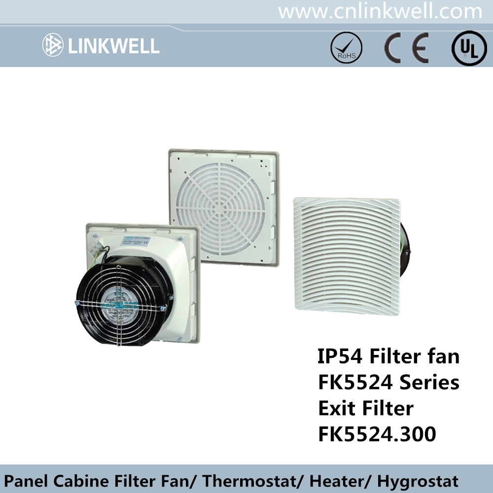 Linkwell electric cabinet control panel cooling fan filters with 17251 axial fan