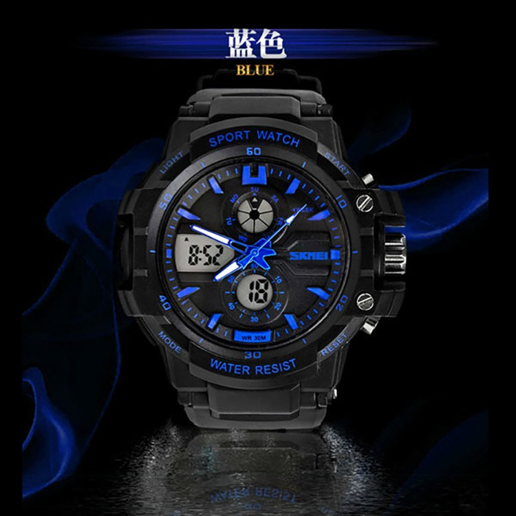 best seller alibaba skmei 0990 sport digital analog black chrono brand watch factory china from original factory