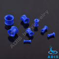 Fashion ear piercing jewelry acrylic blue flare tunnel plugs wholesale