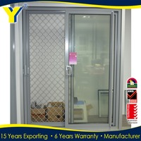 aluminum screen door for superb quality double glazed sliding doors
