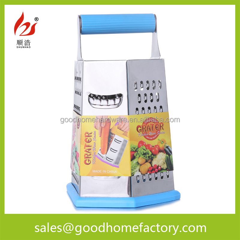 multi 9 inch 6 sides stainless steel food and fruit Grater