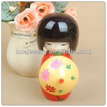 Handmade Wooden Japanese bride nesting Doll,traditional japanese doll for sale
