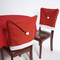 Hot Selling Non woven Fabric Cheap Wholesale Santa Claus Christmas Chair Cover Decor