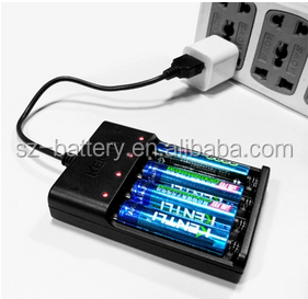 Factory direct sales High Quality KENTLI CH4-57AU 4 PORTS 1.5V AA/AAA Lithium Battery USB Smart charger free shipping