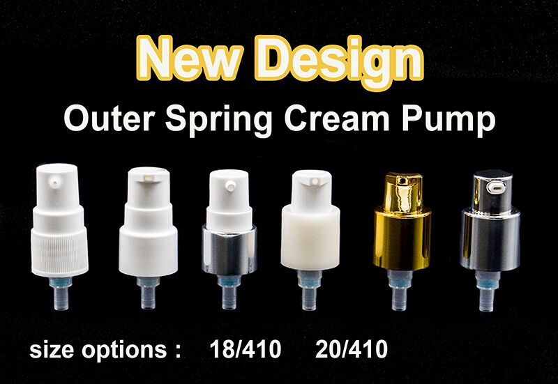 18/410 UV color coating Cosmetic cream pump outer spring pump