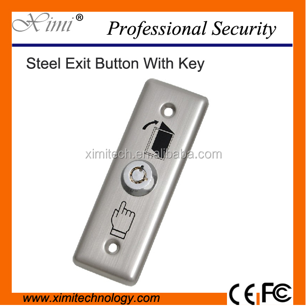Door release button X03k stainless steel metal exit button with key switch for access control system