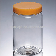 Clear Round Plastic Honey PET Jars 1kg For Sale
