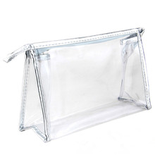OEM China Supply travel recycled waterproof clear pvc cosmetic bag/cosmetics pvc ziplock bag