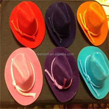 Mini Western Felt Cowboy Hats Party Favors, Wedding Decorations, Crafts