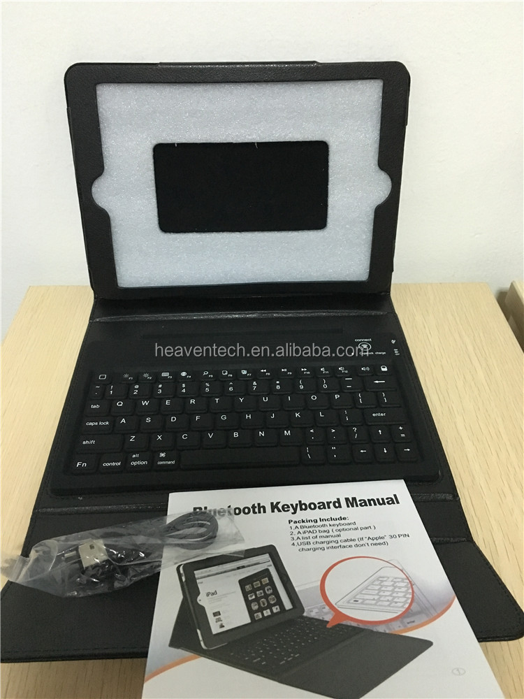 Leather Case Cover with Bluetooth Wireless Keyboard for ipad air