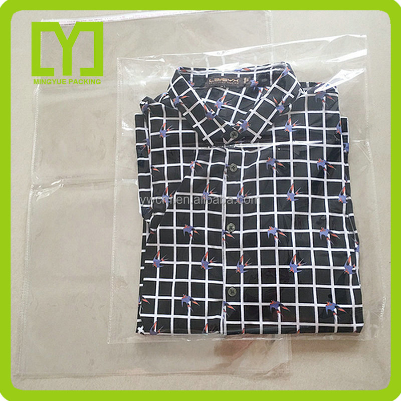 YiWu Resealable transparent custom polybag packaging clear plastic opp garment bag