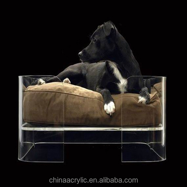 Transparent acrylic Customized decorative clear acrylic dog beds