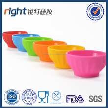Silicone Pinch Bowl, Set Of 6, 1 Each, Red, Blue,Green,Orange, Yellow,Pink