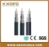 China manufacturer price Copper / CCS conductor RG11 with messenger coaxial cable CCTV cable CATV coaxial cable