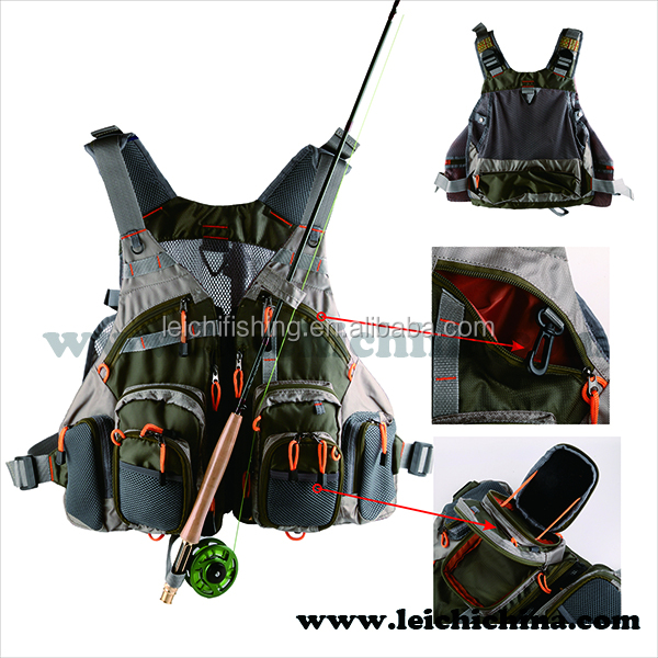 Wholesale Multi pocket fly fishing vest