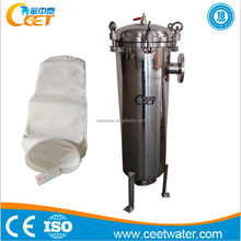 Small size water bag filter for industrial waste water