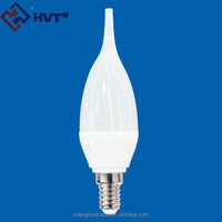 230 degree lighting C35 230V 4W E14 led filament candle bulb with TIP