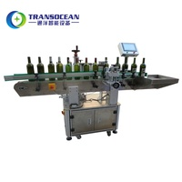 Full automaticwine boston round bottle automatic labeling machine manufacture supplier