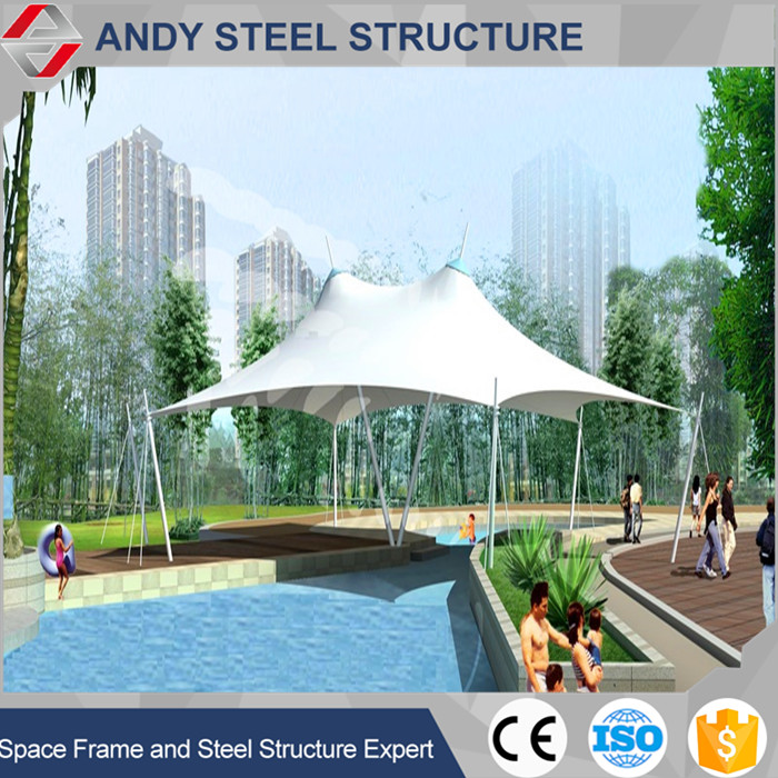 Fast Install Design Tensile Membrane Structure for Swimming Pool Roof Shed