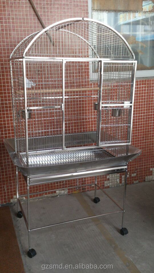 big size parrot bird cage stainless steel