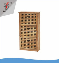 Oiled wooden cabinet for storage