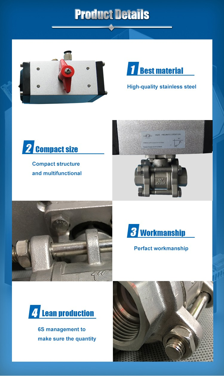 Stainless Steel Pneumatic Actuator Ball Valve