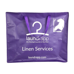 Laundrapp Custom Logo Recycled Polypropylene Zipper Dry Cleaning Bag