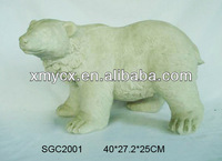Fiberglass indoor decoration resin polar bear animal statue