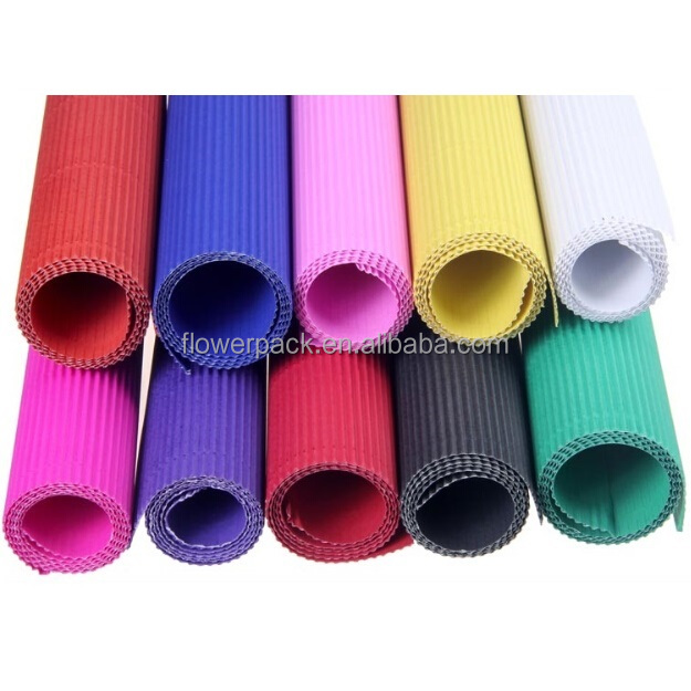 Colorful art craft corrugated paper